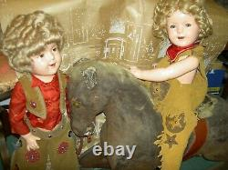 LARGE signed Ideal etc. Shirley Temple 25 compo. FLIRTY EYES Texas Ranger doll