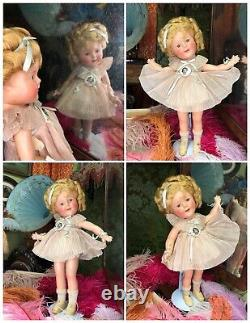 ORIGINAL IN BOX Shirley Temple Composition Doll Take A Bow HIGH COLOR Antique
