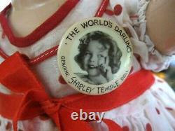Original 1930's Ideal 22 Shirley Temple Doll withOriginal Stand Up & Cheer Dress