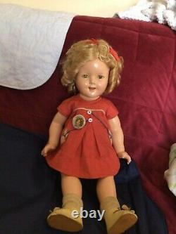 RARE VINTAGE 18 1930s SHIRLEY TEMPLE DOLL