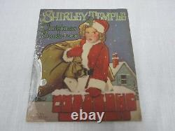 Rare 1937 Saalfield Shirley Temple Christmas Paper Doll Activity Book 1770 Uncut