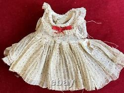 Rare Vintage C1934 Ideal Composition 11 Shirley Temple Doll Dress With Orig