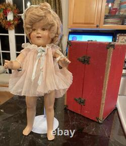 SHIRLEY TEMPLE 16 COMPOSITION DOLL WithORIG RARE OUTFITS, TRUNK & ACC 1930s