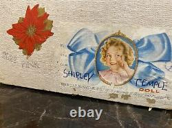 SHIRLEY TEMPLE EXC COMPO 22 DOLL WithTAGGED DRESS IN ORIGINAL BOX BY IDEAL EXC