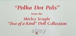 SHIRLEY TEMPLE TWO OF A KIND POLKA DOT PALS DANBURY MINT DOLLS with BOX