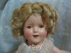Shirley Temple 17, Fabulous Compo 1930's Doll - NO Crazing! Amazing Condition