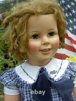 Shirley Temple 34 doll 50th Anniversary labeled box, pin & Certificate near mint