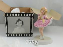 Shirley Temple'Baby Take a Bow' Autographed Bisque Porcelain Doll Figurine