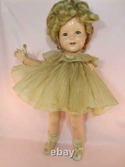 Shirley Temple Composition Ideal 1934 All Original Clothes, Wig Set Lovely 18