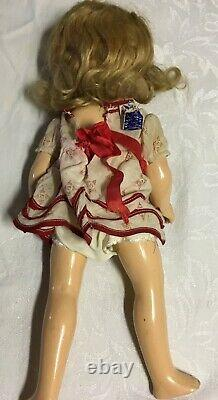 Shirley Temple Doll 1930s 16 Composition Ideal with Orig Dress Marked Ideal