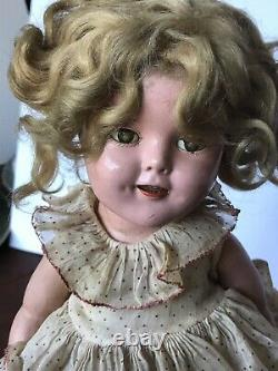 Shirley Temple Doll 1930s 16 Composition Ideal with Orig Dress Under Dress Shoes