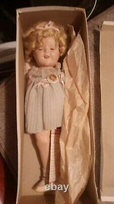 Shirley Temple Doll 1935 18 Inch Original Box, Clothes & Button Reliable Toy Co