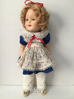 Shirley Temple Ideal 16 1934 Prototype Composition Doll Little Colonel Outfit