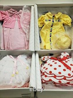 Shirley Temple Playpal Outfits in Box- 8 Dresses for 35/36 Dolls- Danbury Mint