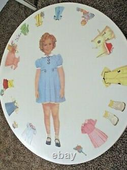 Shirley Temple Wood Table Top Vtg Antique Homemade 1960's Child Size Furniture