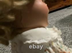 Shirley temple 13 inch doll with tagged dress and pin