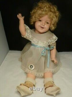 VINTAGE ideal Shirley Temple doll composition SUCH A Beauty FLIRTY EYES 22