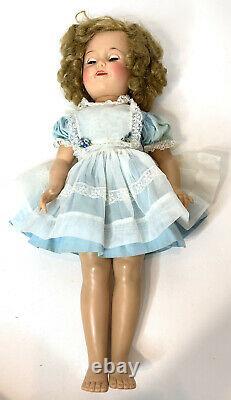 VTG Ideal Doll Shirley Temple 18 Vinyl Doll ST-19-1 with Sleep Eyes tagged Dress