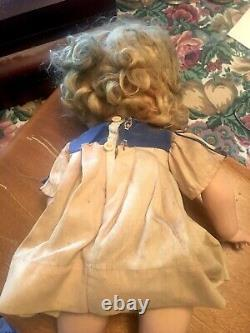 Vintage 18 Composition Ideal Shirley Temple Doll