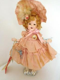 Vintage 1930's Ideal 16 Shirley Temple Composition in Little Colonel Outfit