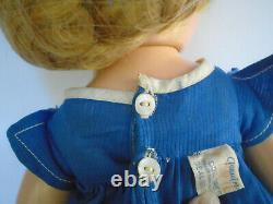 Vintage 1930s 18 Composition Ideal Shirley Temple Doll in Tag Music Note Dress