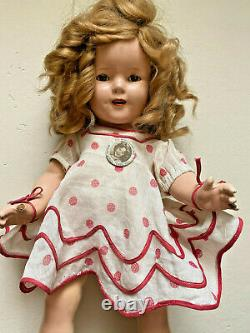 Vintage 1930s Ideal Shirley Temple 19 Composition Doll