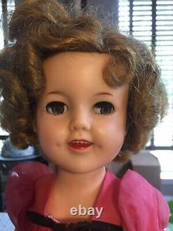Vintage 1950s Ideal Shirley Temple Doll 17 In Original Dress With Flirty Eyes