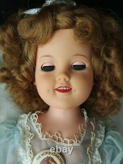 Vintage 1950s Shirley Temple Doll ST-17-1 Flirty Eyes 17 Tall blue dress