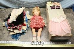 Vintage 20 Shirley Temple Doll In Box With Accessories 6c3