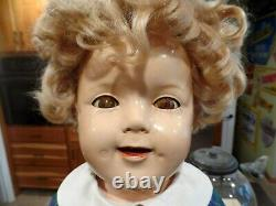 Vintage 27'' Shirley Temple Composition Doll Marked Ideal Doll Co, Blond Hair
