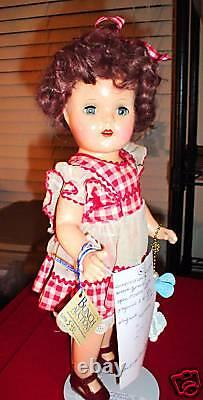 Vintage Composition Shirley Temple Girl Doll 15 Tall