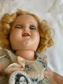 Vintage Flirty Eye Composition 13 Shirley Temple Doll Original Dress Excellent
