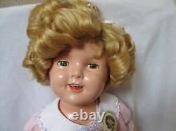 Vintage Ideal 20 Composition Shirley Temple Doll Original hair, Shoes