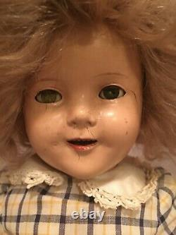 Vintage Shirley Temple Doll 18 Ideal Composition Antique 1934 Prototype 1930's