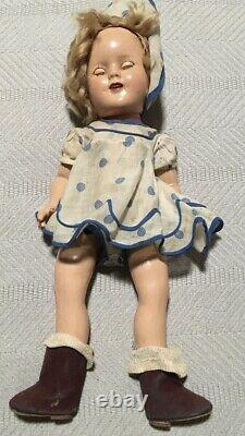 Vintage Shirley Temple Doll Marked #14 With Box And Clothes