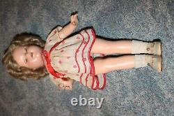 Vintage Shirley Temple Ideal Composition 17 inch 1934 Doll