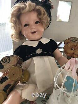Vintage composition ideal shirley temple dolls