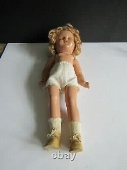 Vtg Ideal Shirley Temple Doll Composition wearing the rare HEIDI Dress 15